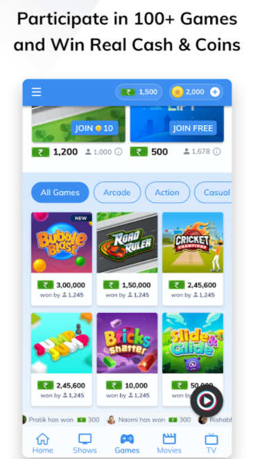 MX Player Online games