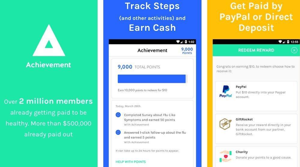achievement app paypal rewards