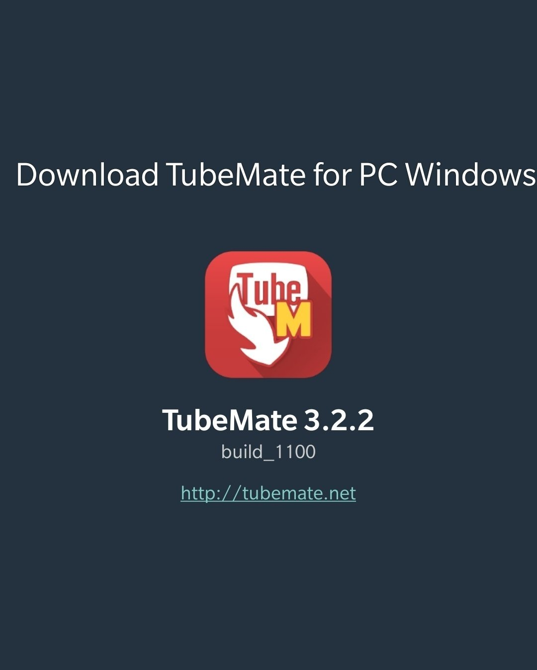 Download TubeMate for PC Windows 10/8/7/XP