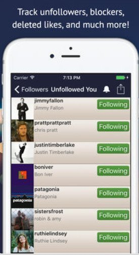 unfollowers instagram ios app