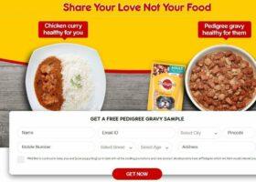 free pedigree gravy sample offer
