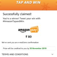 amazon tap and win pay balance proof