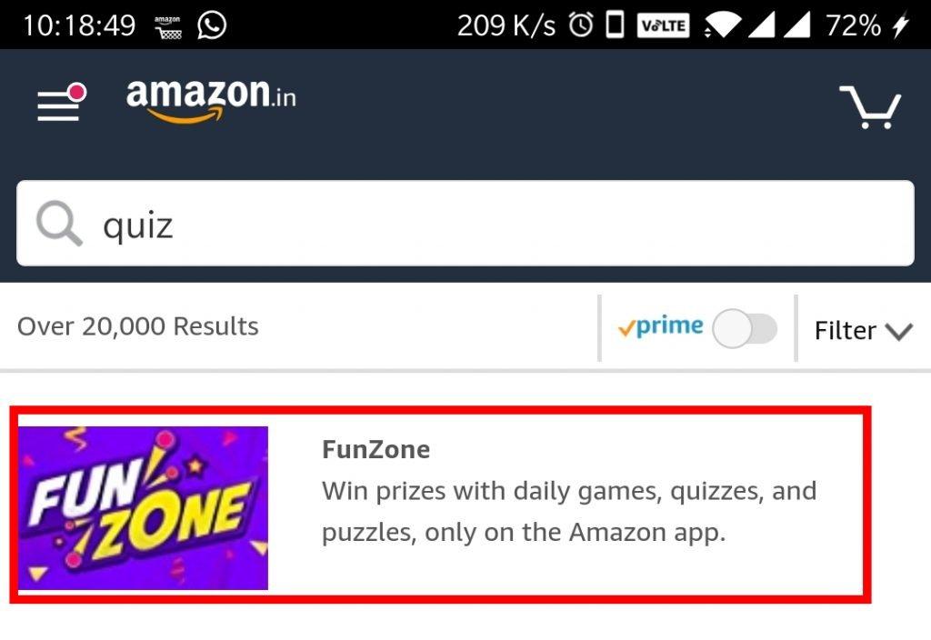 amazon app funzone