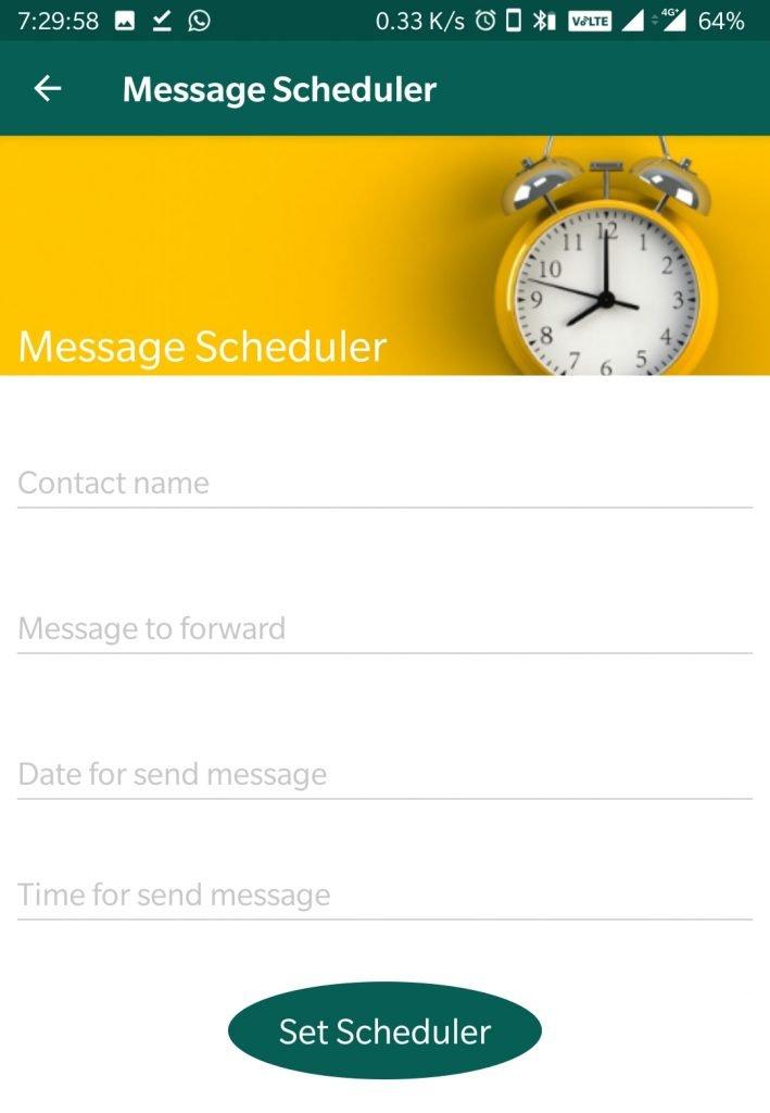 whatsapp aero mod message scheduler