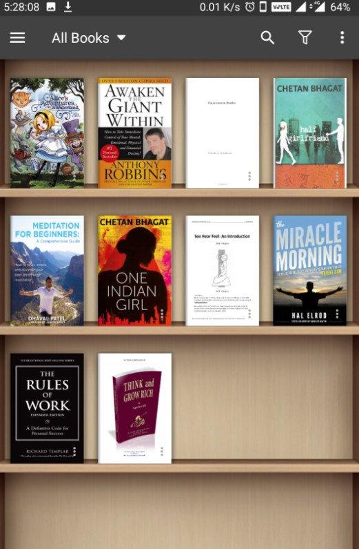 moon+ reader pro books