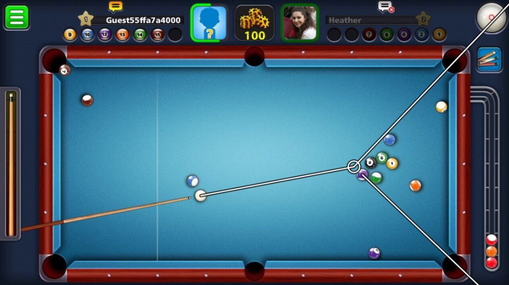 8 ball pool long lines mod apk