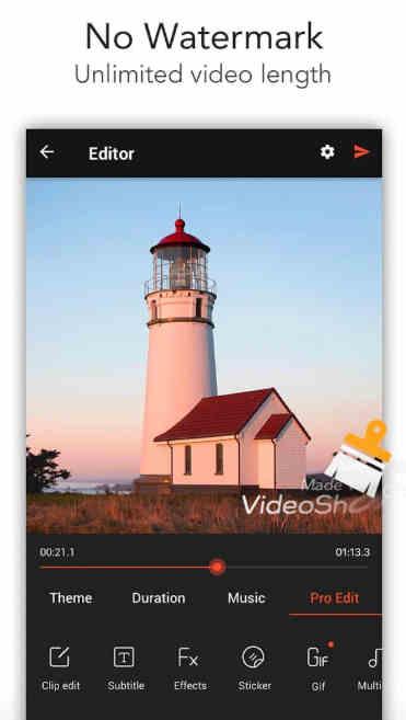 videoshow pro no watermark apk