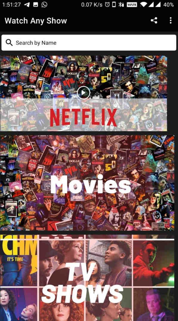 Watch Any Show (Ad Free) – Watch Netflix/Amazon Prime Web Series & Movies
