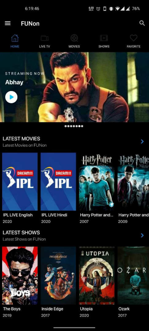 FUNon APK (Watch New Movies & Web Series)
