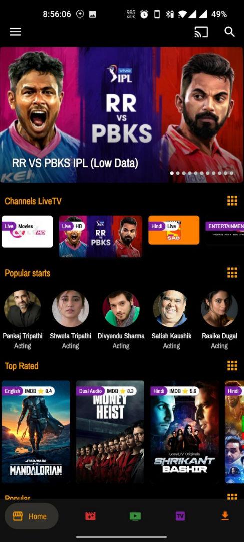PicasoTV APK (AdFree) – Watch Movies, Live TV, & Web Series